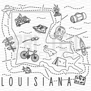 Illustrated Louisiana Shirt By Printed Marketplace