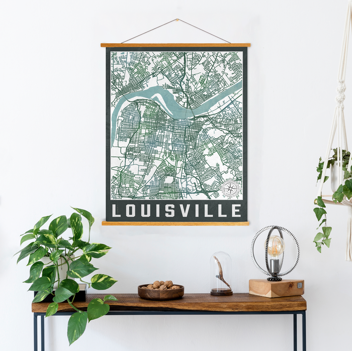 Louisville Kentucky City Map Print