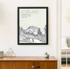 Loveland Colorado Ski Area | Hanging Canvas of Loveland | Printed Marketplace