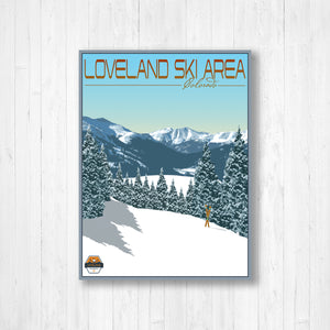 Loveland Colorado Modern Illustration Print by Printed Marketplace