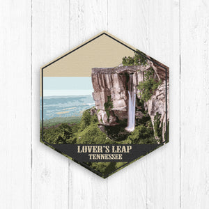 Lover's Leap Tennessee Hexagon Illustration by Printed Marketplace