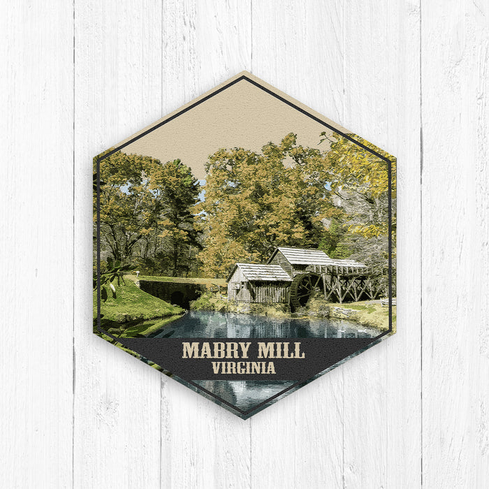 Mabry Mill Virginia Hexagon Canvas