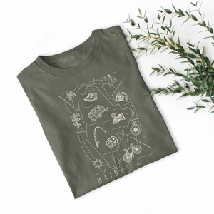 Illustrated Maine Shirt By Printed Marketplace
