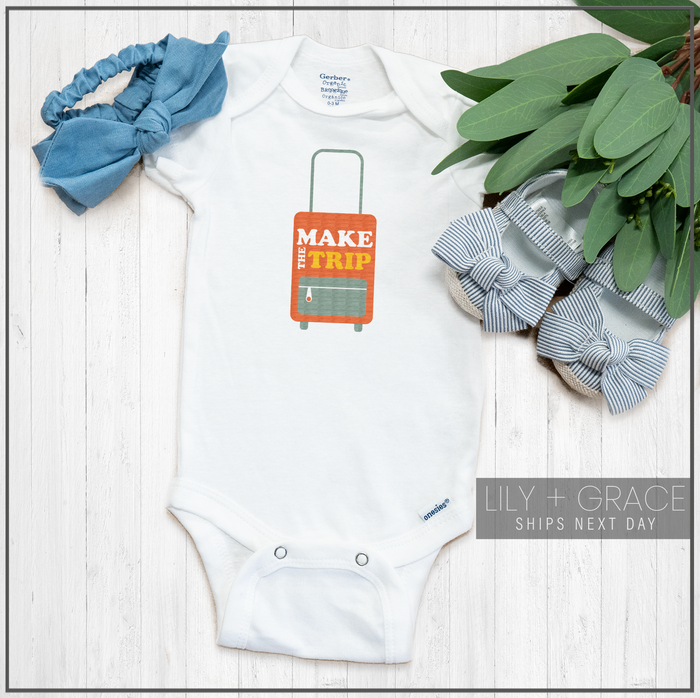 Make The Trip Suitcase Onesie® | Toddler Travel Apparel | Infant Clothing