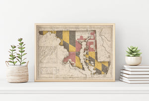 maryland flag map conversion