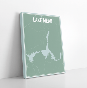 Lake Mead Arizona Street Map Print