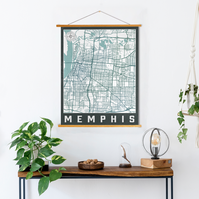 Memphis Tennessee Urban Street Map