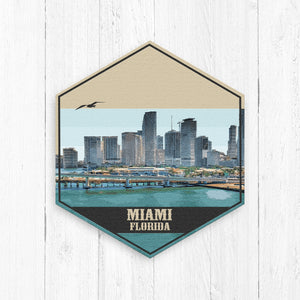 Miami Florida Hexagon Illustration