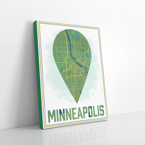 Minneapolis Minnesota Hanging Canvas