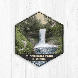 Minnehaha Park Minnesota Hexagon Illustration