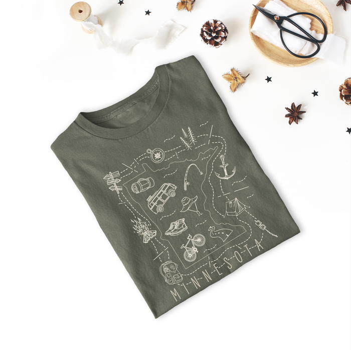 Illustrated Minnesota Shirt By Printed Marketplace