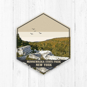 Minnewaska State Park New York Hexagon Illustration Canvas