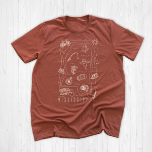 Illustrated Mississippi Shirt By Printed Marketplace