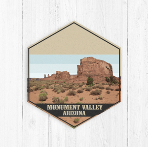 Monument Valley Hexagon Illustration