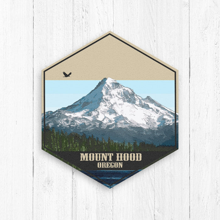 Mount Hood Oregon Hexagon Canvas Print