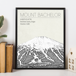 Mount Bachelor Oregon Ski Resort Print | Hanging Canvas of Bachelor Ski & Sports | Printed Marketplace