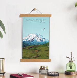 Mount McKinley, Alaska Illustration Print | Mount McKinley Hanging Canvas Print