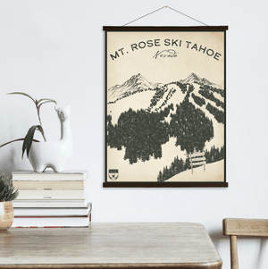 Mt. Rose Nevada Ski Resort Sketch Print