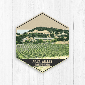 Napa Valley California Hexagon Illustration