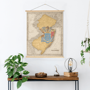 New Jersey Map State Flag Map