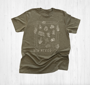 Illustrated New Mexico Shirt By Printed Marketplace