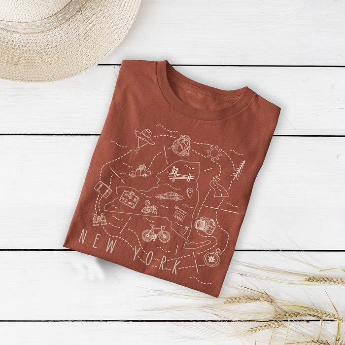 Illustrated New York Shirt By Printed Marketplace