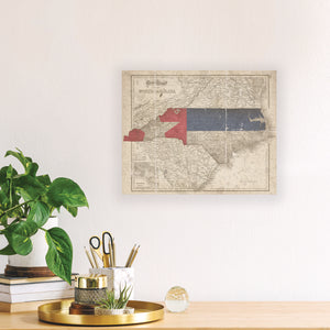 North Carolina Flag Map Print