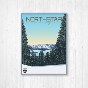 Northstar California Modern Illustration Print by Printed Marketplace