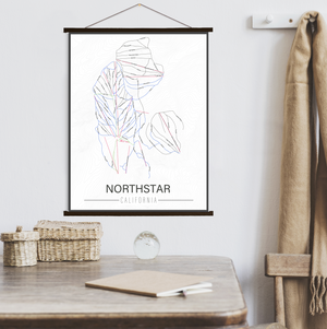 Northstar California Ski Trail Map | Hanging Canvas of Northstar Ski Trail | Printed Marketplace