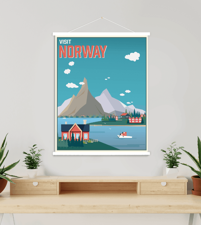 Norway Modern Illustration Print