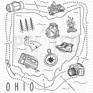 Illustrated Ohio Shirt By Printed Marketplace