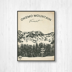 Okemo Ski Resort Sketch Print