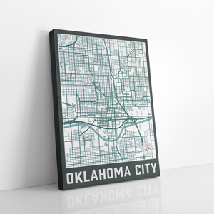 Oklahoma City Urban Street Map Print
