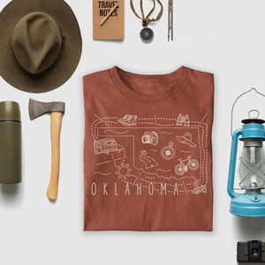Illustrated Oklahoma Shirt By Printed Marketplace