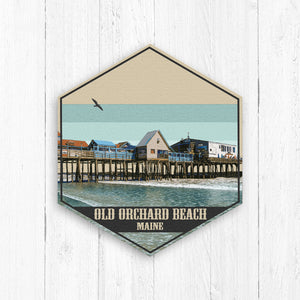 Old Orchard Beach Maine Hexagon Canvas Print