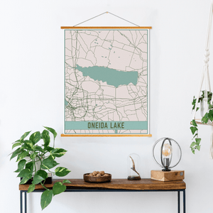 Oneida Lake New York Map Print
