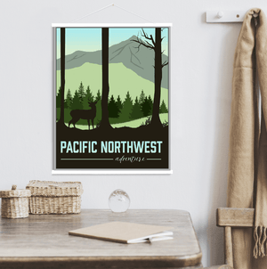 Pacific Northwest Washington Modern Illustration Print