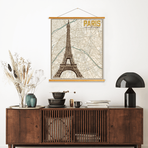 Paris France City Map Print