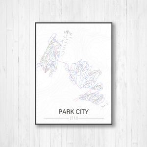 Park City Utah Ski Run Trail Map