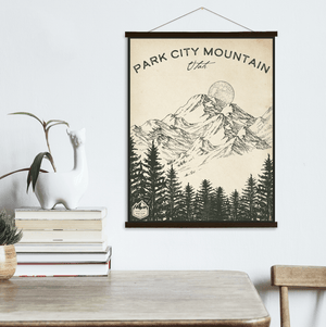 Park City Utah Ski Resort Sketch Print