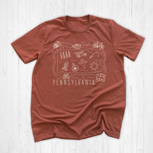 Illustrated Pennsylvania Shirt By Printed Marketplace