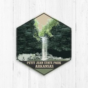 Petit Jean Arkansas Hexagon Illustration