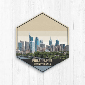 Philadelphia Pennsylvania Hexagon Illustration