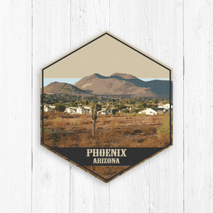 Phoenix Arizona Hexagon Illustration