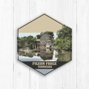 Pigeon Forge Tennessee Hexagon Illustration by Printed Marketplace