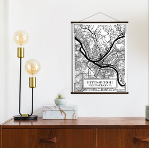 Pittsburgh Pennsylvania Street Map Print
