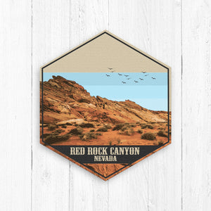 Red Rock Canyon Nevada Hexagon Illustration