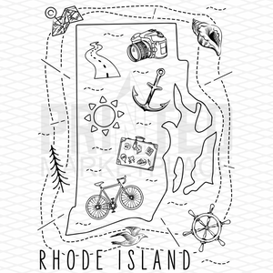 Illustrated Rhode Island Shirt By Printed Marketplace