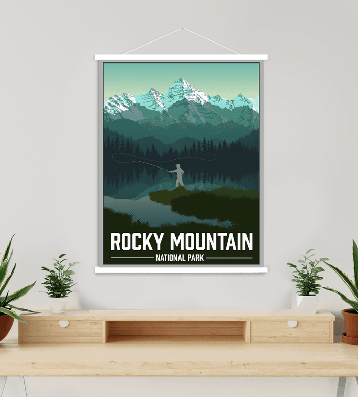 Rocky Mountain National Park Modern Illustration