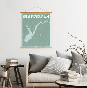 Great Sacandaga Lake New York Lake Map Print